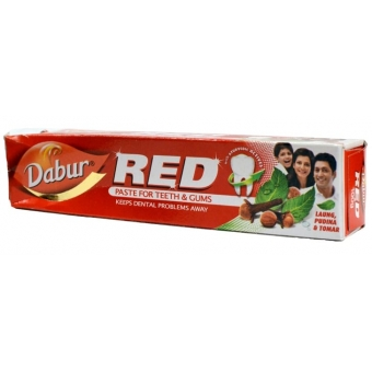индийская зубная паста dabur red