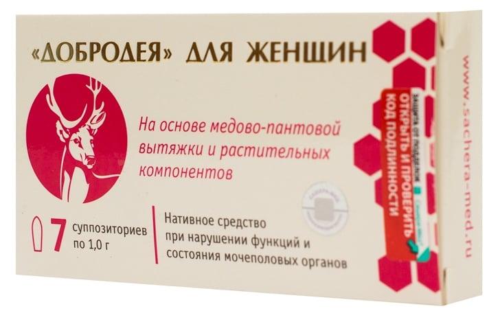 Вагинальные капсулы-свечи при гинекологических заболеваниях Добродея
