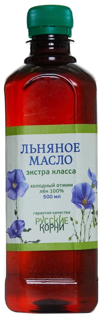 льняное масло Русские Корни